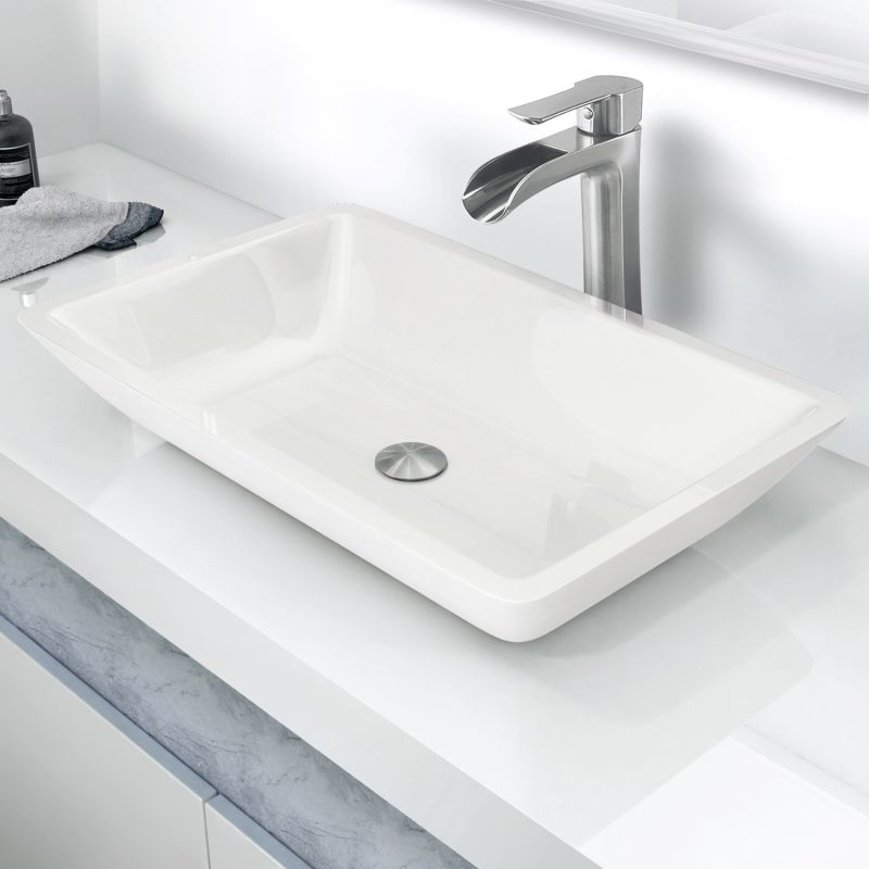 Vigo Vg07105 White Phoenix Stone 22 Quot Bathroom Vessel Sink