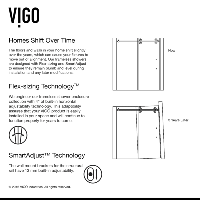 Faucet.com | VG6041CHMT6074R in Frosted Glass / Chrome by Vigo