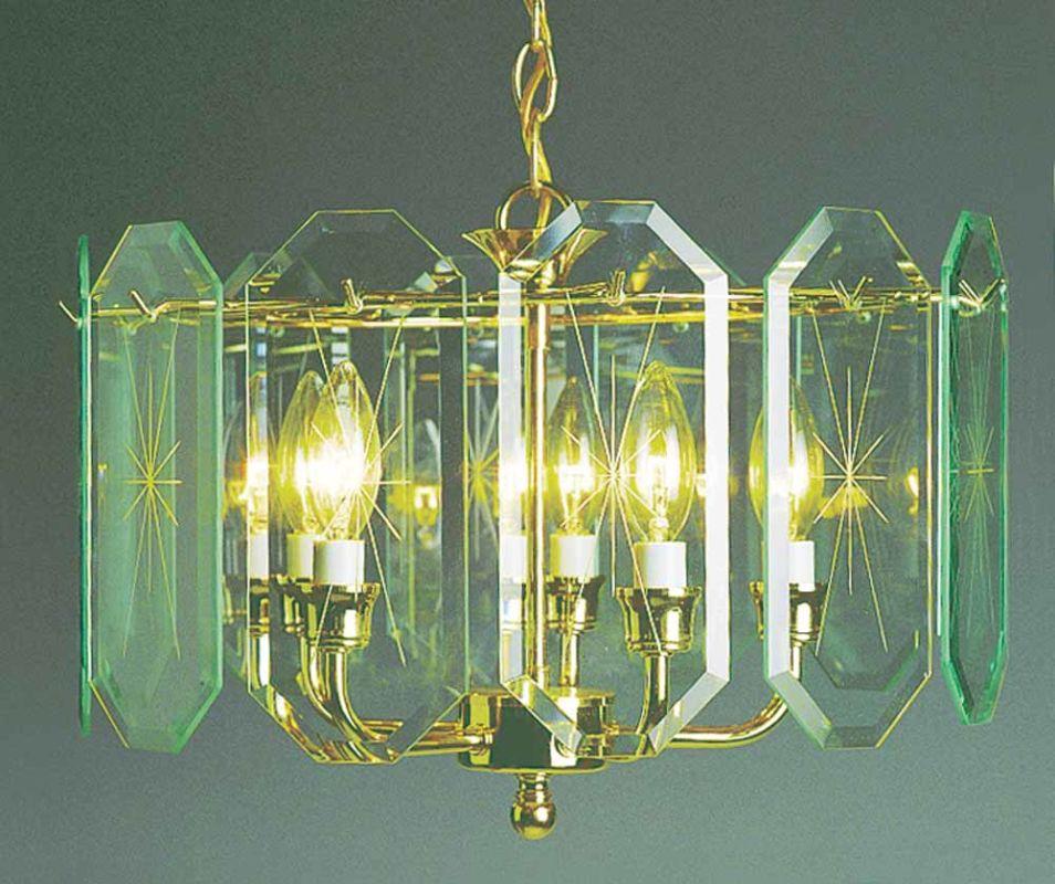 Volume Lighting V3195 C2 Polished Brass 5 Light 1 Tier