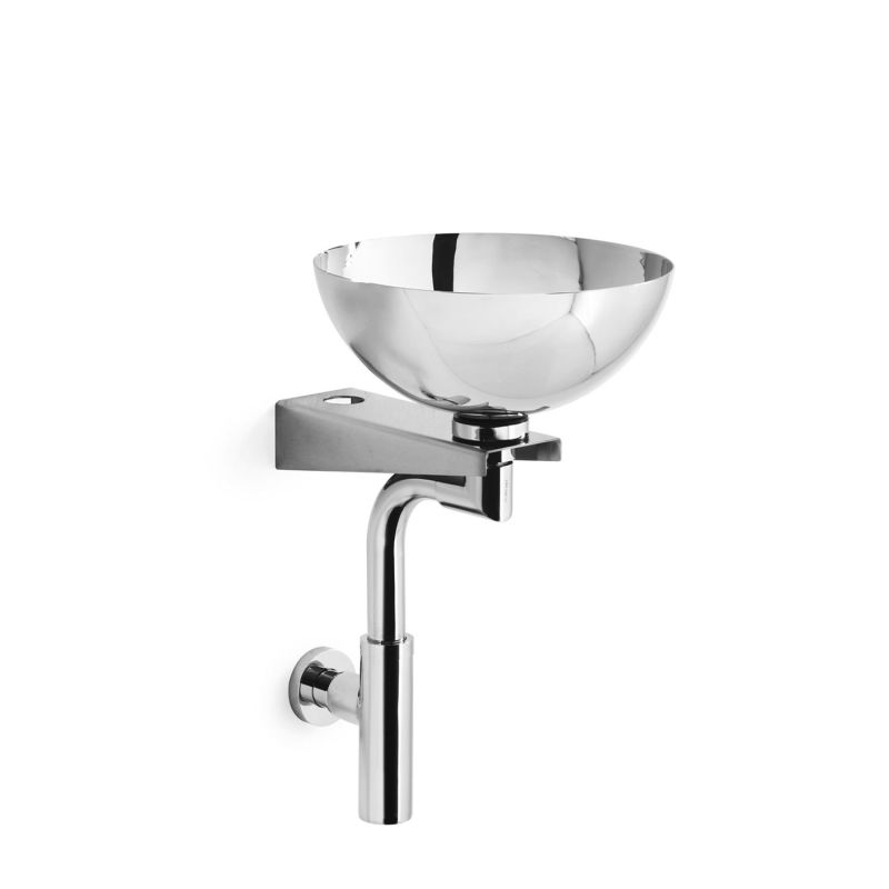 Albio in stainless steel by ws bath Stainless steel bathroom sink wall mount
