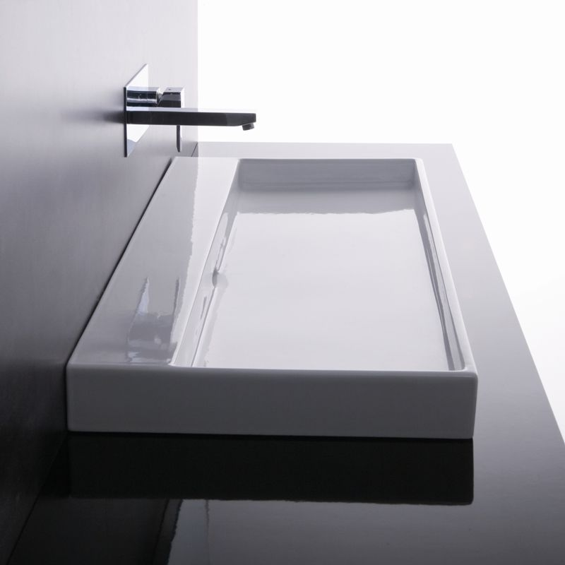 urban in ceramic white 0 faucet holes by ws bath