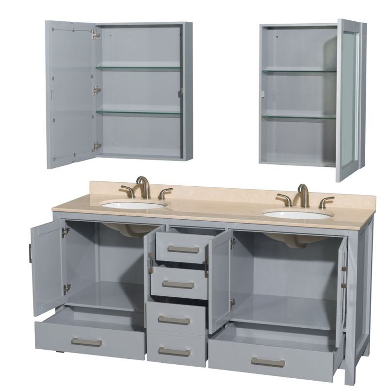 Wc 1414 72 Dbl Van Gry In Gray By Wyndham Collection
