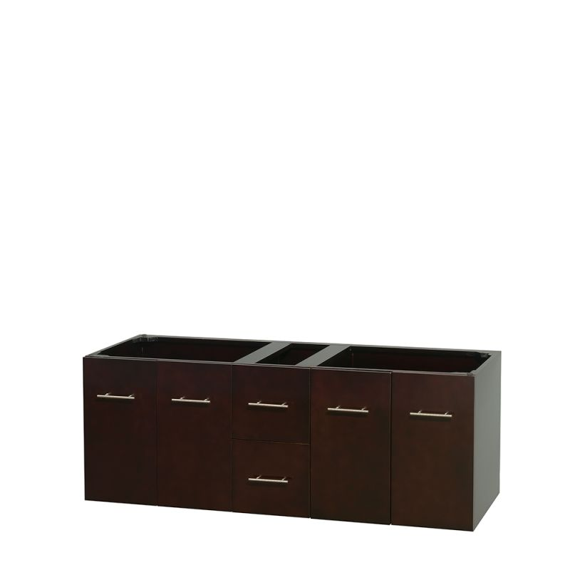 Wyndham collection wcvw00960descxsxxmxx espresso centra 59 for Wall mounted bathroom vanity cabinet only