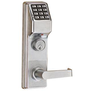 alarm lock etdlg 26d satin chrome trilogy 2000 user electronic digital keypad lock outside trim. Black Bedroom Furniture Sets. Home Design Ideas