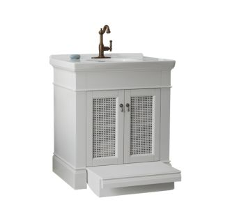 American Standard White Portsmouth 30 Vanity Cabinet Only With Slide Out Step