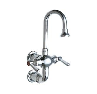 Chicago Faucets 225 261abcp Chrome Wall Mounted Utility