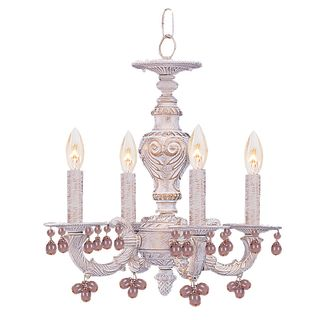 chandeliers for kitchen lighting crystorama lighting 5224 aw antique white 5224