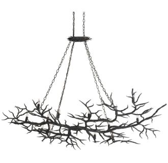 Currey And Company 9007 Rustic Bronze Rainforest 14 Light