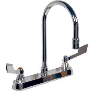 delta 26c3955 chrome commercial double handle widespread lavatory