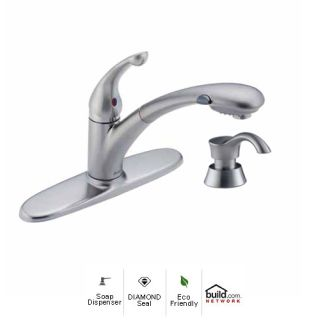 Delta  Ar Dst Signature Pull Out Kitchen Faucet With Optional Base Plate