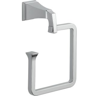 Delta 75146 Chrome Dryden Towel Ring Faucetdirect Com