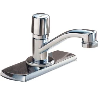 push button 3 hole metering bathroom faucet from the commercial series