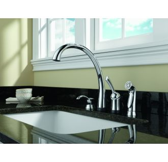 Delta 4380 Sd Dst Chrome Pilar Kitchen Faucet With Side