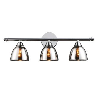Mercury Glass Vanity Light Shade : Elk Lighting 10072/3 Polished Chrome Reflections 3 Light 23