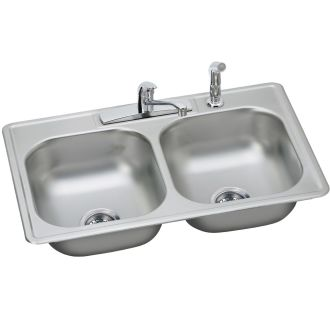 dayton kitchen sinks faucet dd233224df in 4 faucet holes by elkay 3107