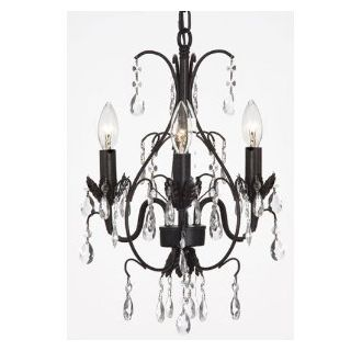 Wrought Iron Swag Plug In Chandelier