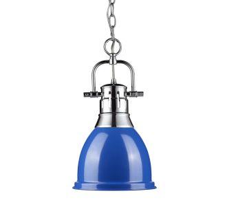 Golden Lighting 3602 S CH BE Chrome Blue Duncan Single