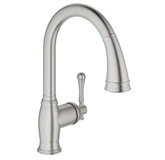 Grohe 33870dc2 Supersteel Bridgeford Pull Down High Arc