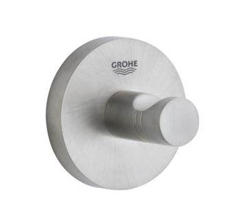 Grohe 40364en0 Brushed Nickel Essentials Robe Hook