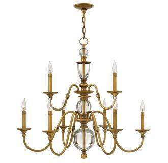 Hinkley Lighting 4958hb Heritage Brass 9 Light 2 Tier