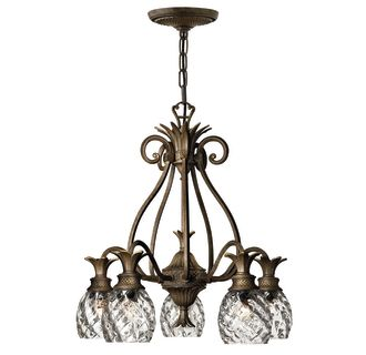 Hinkley Lighting 4885PZ Pearl Bronze Plantation 5 Light 1 Tier Chandelier L