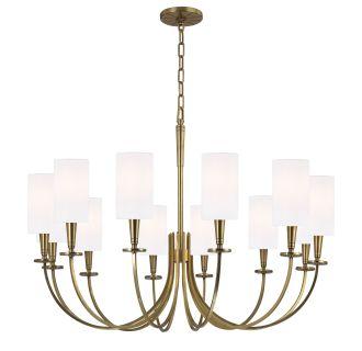 Hudson Valley Lighting 8032 Agb Aged Brass Mason 12 Light