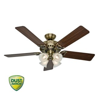 Hunter 53063 Antique Brass 52 Indoor Ceiling Fan