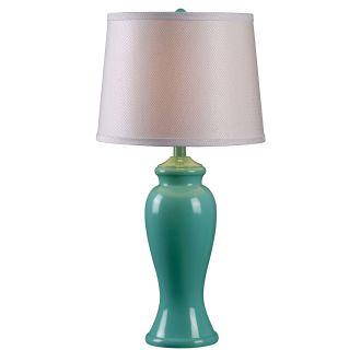 Kenroy Home 32256teal Teal Gloss Amelia 1 Light Table Lamp