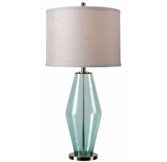 Kenroy Home 32315teal Teal Glass Azure 1 Light Table Lamp