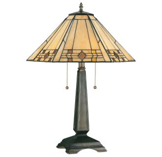 Kenroy Home 33040brz Bronze Willow 2 Light Stained Glass
