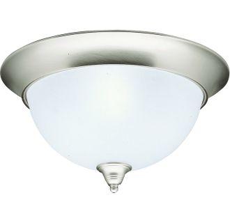 kichler 8065ni brushed nickel dover 3 light flush mount