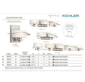 Kichler 45317ch Chrome Suspension 3 Light 30 Quot Wide Vanity