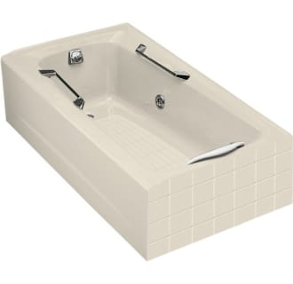 60 three wall alcove jetted whirlpool bath tub with left side drain
