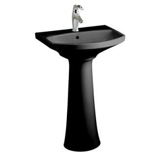 Kohler K 2362 1 7 Black Cimarron 22 3 4 Pedestal