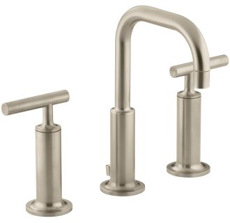 sink faucets bathroom kohler k 14407 4 bv brushed bronze purist widespread 14434