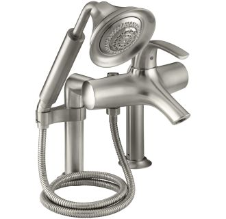 Kohler K 18486 4 BN Brushed Nickel Single Handle Roman Tub Faucet With Metal