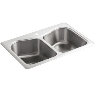 Kohler K 3369 1 Na Stainless Steel Staccato 33 Quot Double