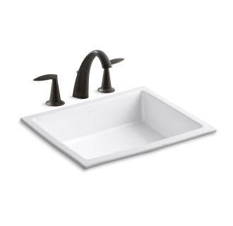 Verticylтў Rectangular Undermount Bathroom Sink K-2882-0 faucet   k-2881-47 in almondkohler