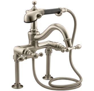 Kohler K 6905 4 BV Brushed Bronze Double Handle Roman Tub Faucet With Metal L