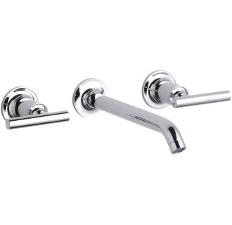 sink faucets bathroom kohler k t14415 4 cp polished chrome purist wall mount 14434