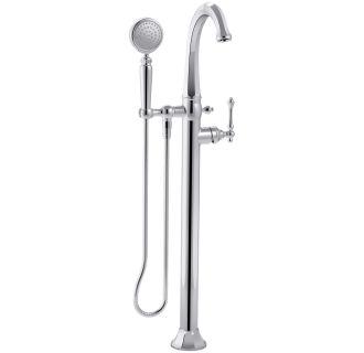 Kohler K T97332 4 CP Polished Chrome Kelston Floor Mounted Roman Tub Faucet W