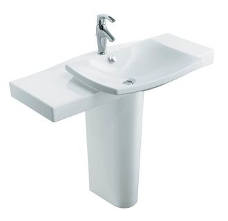 kohler k 18691 1 0 white escale pedestal lavatory with 19034