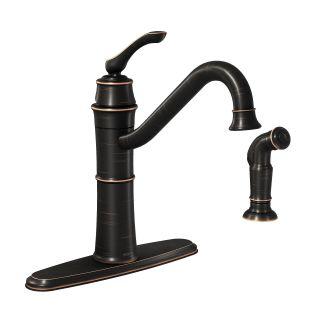 Moen 87999BRB Mediterranean Bronze High Arc Kitchen Faucet With Side Spray Fr