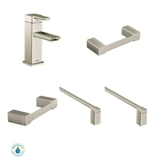 90 Degree Faucet And Accessory Bundle 2bn In Brushed Nickel By Moen
