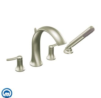 Moen TS21704BN Brushed Nickel Deck Mounted Roman Tub Faucet Trim With Persona