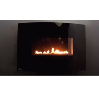 Napoleon Whvf24n Black 9 000 Btu Wall Mounted Natural Gas Vent Free Fireplace From The