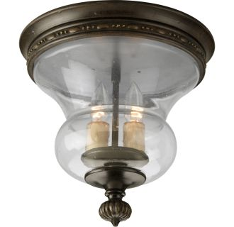 Progress Lighting P3815 77 Forged Bronze Fiorentino Two Light Flush Mount Cei