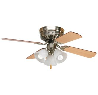 Progress Lighting P2524 09 P2600 Brushed Nickel Hugger 42 Quot 4 Blade Flush Mount Ceiling Fan
