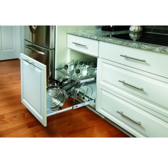 Rev A Shelf 5cw2 2122 Cr Chrome 5cw2 Series 21 Inch Wide Two Tier Pull Out Cookware Organizer
