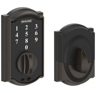 Schlage Be375cam716 Aged Bronze Camelot Touch Deadbolt